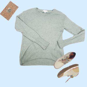 H&M L.O.G.G. Light Green Wool Blend Sweater Size M